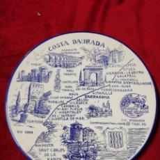 Segunda Mano: PLATO DE CERÁMICA PARA COLGAR, SOUVENIR COSTA DAURADA. PROPAGANDA CAMPING SANT SALVADOR.. Lote 140689389