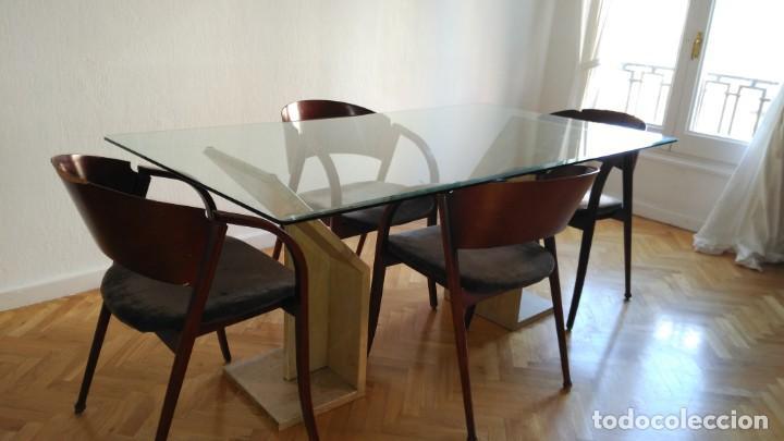 mesa de comedor de vidrio y bases de mármol - Kaufen Artikel für ...