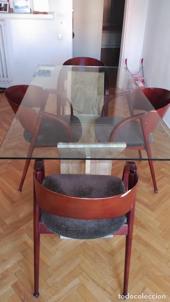 mesa de comedor de vidrio y bases de mármol - Comprar artículos de ...