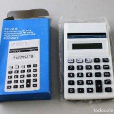 Segunda Mano: CALCULADORA ELSIMATE EL-231. COMO NUEVA. Lote 143154198