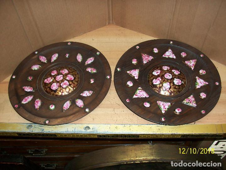 PAREJA DE PLATOS DE MADERA (Segunda Mano - Hogar y decoración)