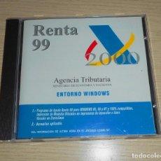Segunda Mano: COMPACT DISC CD RON RENTA 99/2000 AGENCIA TRIBUTARIA PARA WINDOWS 95 98 Y NT DISCO COMPACTO. Lote 143259858