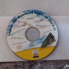 Segunda Mano: LEGEND - QDI MAINBOARD UTILITY CD (VER. 2.1). Lote 143546606