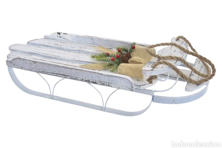Segunda Mano: Trineo madera decapé y metal decoración - Foto 2 - 144522036