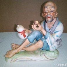 Segunda Mano: ABUELITO TOMANDO SAKE-BONITA FIGURA -MADE IN JAPAN . Lote 144729918