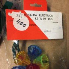 Segunda Mão: GUIRNALDA ELÉCTRICA 8 LUCES COLORES INTERMITENTES REF 300/107. Lote 250291945