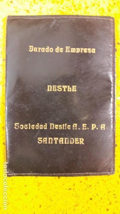 ANTIGUA CARTERA DE PIEL DEL JURADO DE EMPRESA DE NESTLE SANTANDER CANTABRIA (Segunda Mano - Otros)