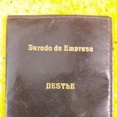 Segunda Mano: ANTIGUA CARTERA DE PIEL DEL JURADO DE EMPRESA DE NESTLE SANTANDER CANTABRIA. Lote 145815714