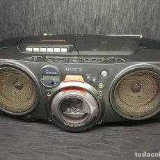 Segunda Mano: BOOMBOX ESTÉREO SONY CFD-G70 CASSETTE CD AM/FM RADIO AUX JUEGO. Lote 147014870