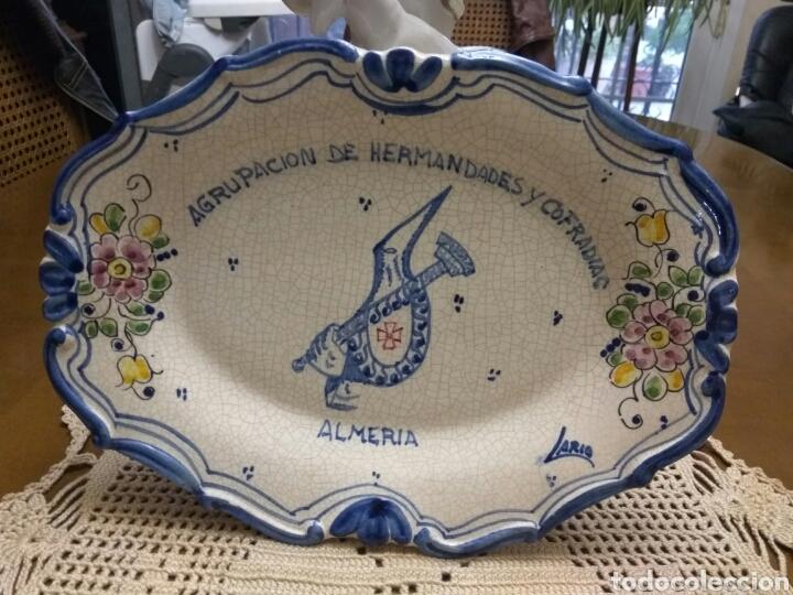 ALMERÍA AGRUPACIÓN DE COFRADÍAS CERÁMICA ARTESANAL FIRMADA (Segunda Mano - Hogar y decoración)