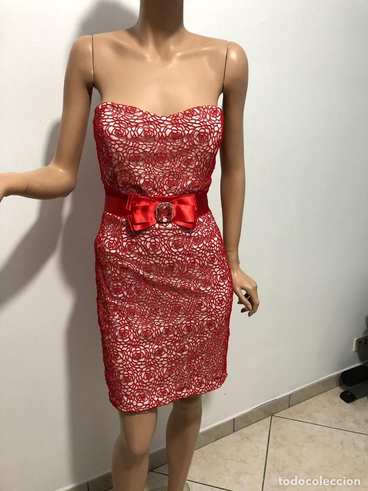 quality design 184f6 6081f Abito bianco e rosso - rete di cotone rossa Vintage Marca CREATIVITY