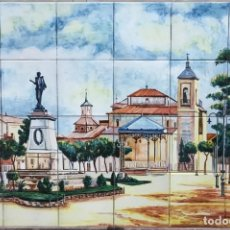 Segunda Mano: PLAZA DE CERVANTES ANTIGUA, DE ALCALÁ DE HENARES EN CERÁMICA ARTÍSTICA PINTADA A MANO EN TALVERA. Lote 148174254