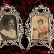 Segunda Mano: ANTIGUOS MARCOS PORTA FOTOS ESTILO MODERNISTA. Lote 195125501