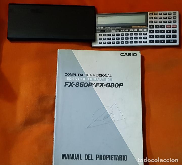 COMPUTADORA PERSONAL, CALCULADORA CIENTÍFICA CASIO FX-850P, CON MANUAL DEL PROPIETARIO. FUNCIONANDO. (Segunda Mano - Artículos de electrónica)