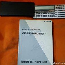 Segunda Mano: COMPUTADORA PERSONAL, CALCULADORA CIENTÍFICA CASIO FX-850P, CON MANUAL DEL PROPIETARIO. FUNCIONANDO.. Lote 149000118