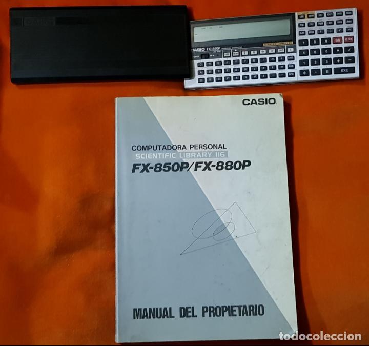 Segunda Mano: COMPUTADORA PERSONAL, CALCULADORA CIENTÍFICA CASIO FX-850P, CON MANUAL DEL PROPIETARIO. FUNCIONANDO. - Foto 2 - 149000118