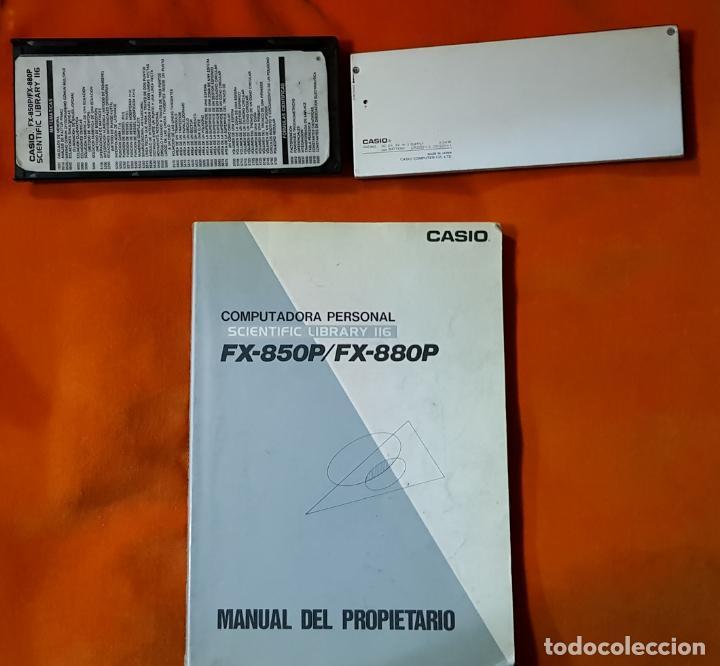 Segunda Mano: COMPUTADORA PERSONAL, CALCULADORA CIENTÍFICA CASIO FX-850P, CON MANUAL DEL PROPIETARIO. FUNCIONANDO. - Foto 5 - 149000118