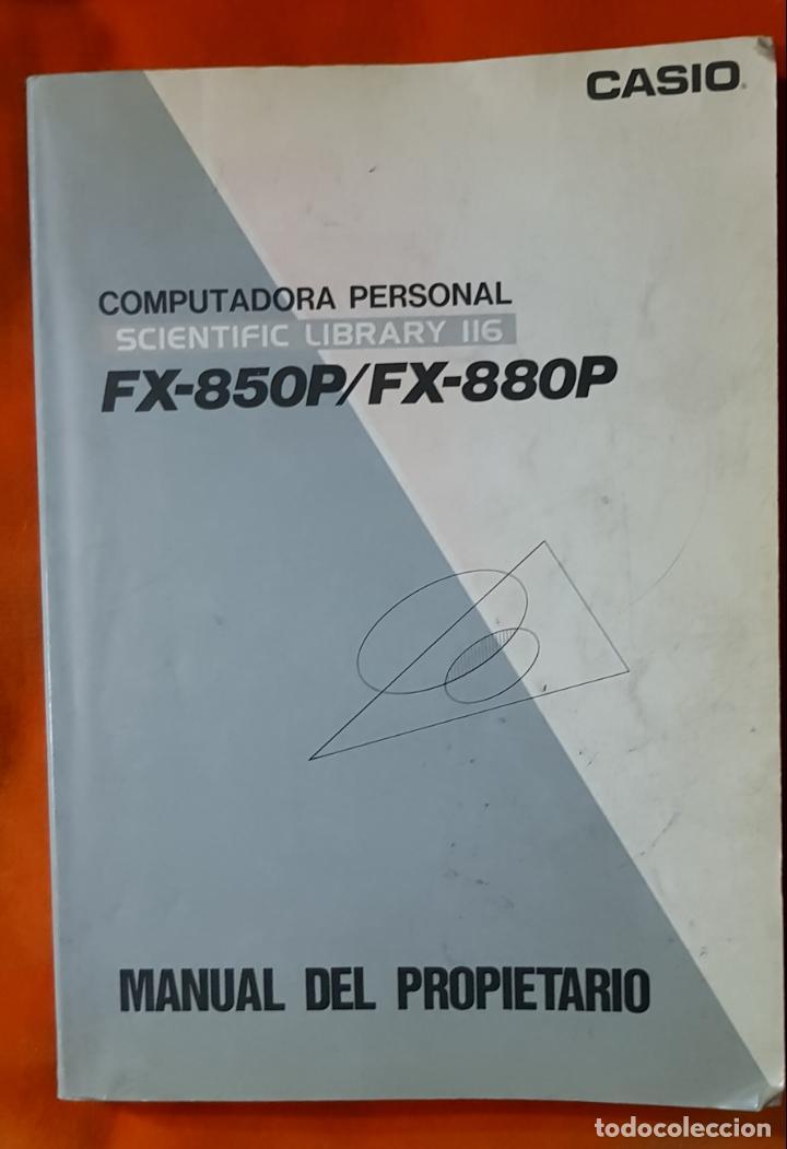 Segunda Mano: COMPUTADORA PERSONAL, CALCULADORA CIENTÍFICA CASIO FX-850P, CON MANUAL DEL PROPIETARIO. FUNCIONANDO. - Foto 7 - 149000118