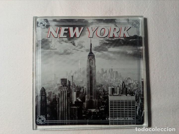 Segunda Mano: 4 POSAVASOS DE NEW YORK (EDIFICIO CHRYSLER) DE VIDRIO - Foto 2 - 150176114