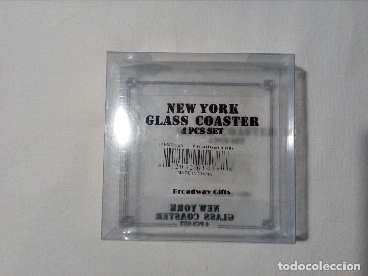 Segunda Mano: 4 POSAVASOS DE NEW YORK (EDIFICIO CHRYSLER) DE VIDRIO - Foto 5 - 150176114