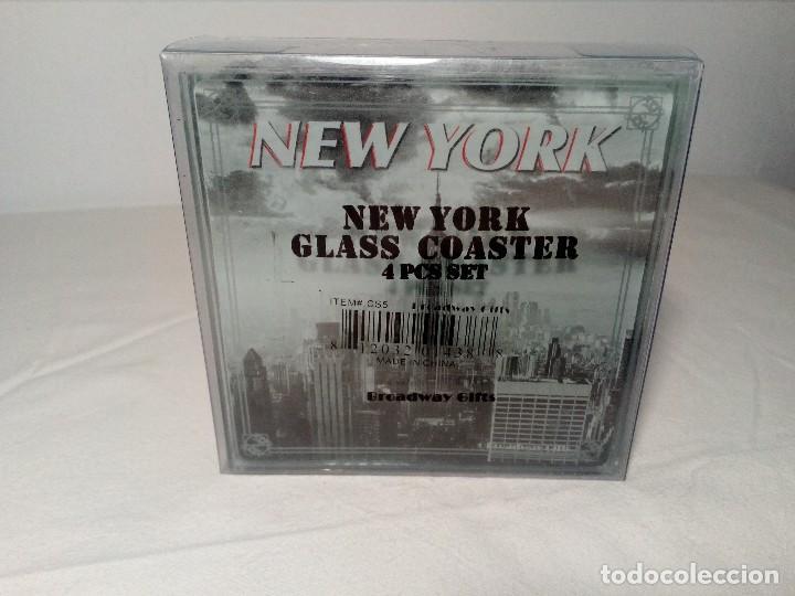 Segunda Mano: 4 POSAVASOS DE NEW YORK (EDIFICIO CHRYSLER) DE VIDRIO - Foto 10 - 150176114