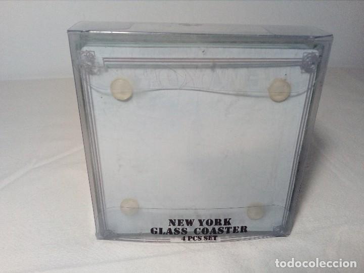 Segunda Mano: 4 POSAVASOS DE NEW YORK (EDIFICIO CHRYSLER) DE VIDRIO - Foto 11 - 150176114