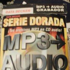 Segunda Mano: SERIE DORADA MP3 AUDIO GRABADOR TUS ARCHIVOS MP3 EN CD AUDIO. Lote 150696418