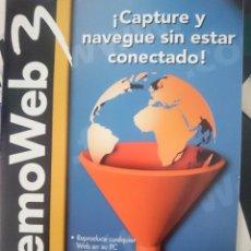 Segunda Mano: MEMOWEB PROGRAMA ORDENADOR QUE MEMORIZA PAGINAS WEB EN EL ORDENADOR. Lote 150756886