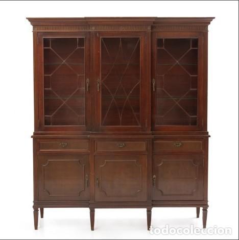 vitrina de comedor en madera maciza de caoba. - Comprar artículos de ...