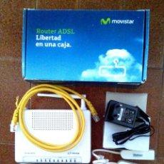 Segunda Mano: ROUTER ADSL / ADSL+ INALÁMBRICO 4 PUERTOS MOVISTAR. (SIN NINGÚN USO). Lote 152628258