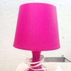Segunda Mano: LAMPARA SOBRMESA MESITA ROSA IDEAL DORMITORIO FUNCIONA. Lote 222619363