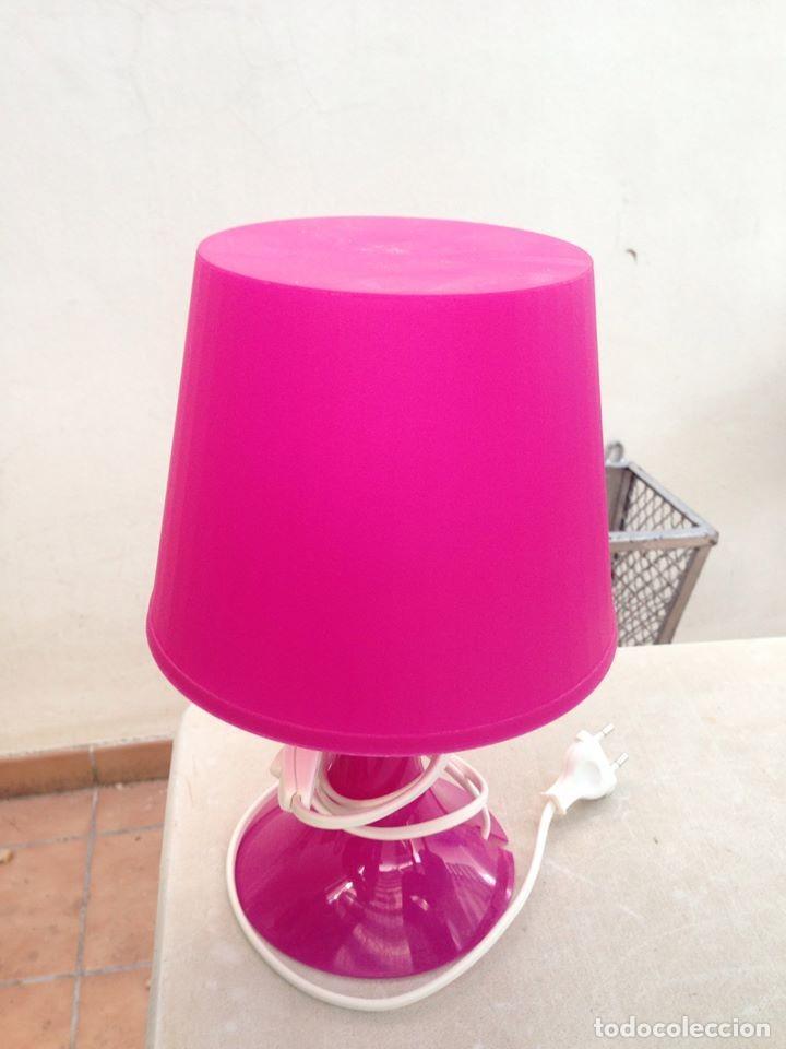 Segunda Mano: lampara sobrmesa mesita rosa ideal dormitorio funciona - Foto 2 - 153038602