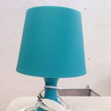 Segunda Mano: LAMPARA AZUL CORRECTA SOBREMESA MESITA DORMITORIO JUVENIL ACTUAL. Lote 153039526