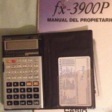 Segunda Mano: CALCULADORA CASIO FX-3900P CON FUNDA Y EL MUY BUSCADO MANUAL. Lote 153558130