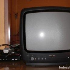 Segunda Mano: TELEVISION DE 14´¨ MARCA PHILIPS AÑOS 90 +TDT GRABADOR USB LAUSON ,TODO FUNCIONANDO MUY CUIDADO. Lote 154496698