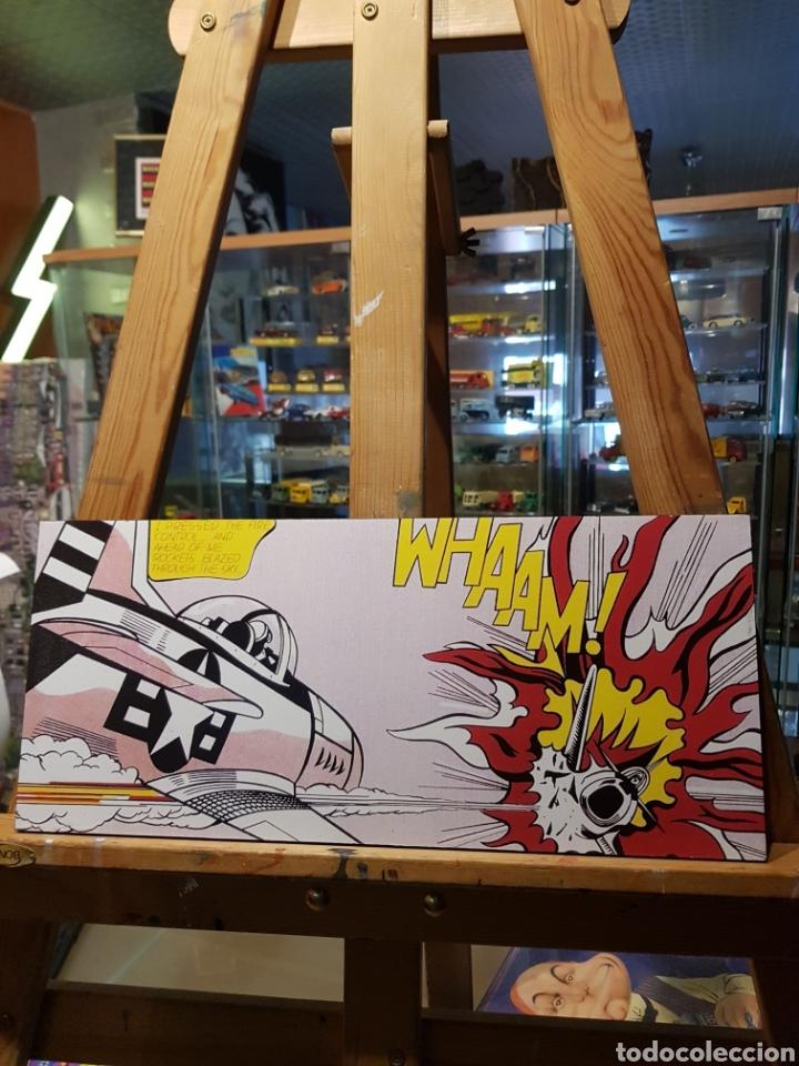 Segunda Mano: Roy Lichtenstein: WHAAM avión MUSTANG de combate: Cuadro rREPRO en madera pop art. Pintura Giclee - Foto 4 - 160949190