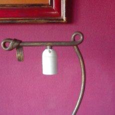 Segunda Mano: LAMPARA SOBREMESA DE HIERRO. Lote 156047166