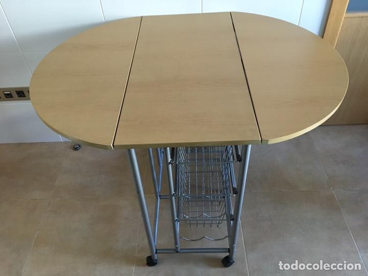 mesa cocina alas extensibles con verdulero, bal - Comprar artículos ...