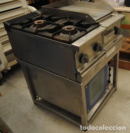 mesa de acero inox. para plancha-cocina-horno