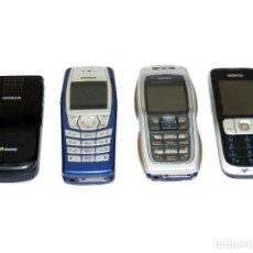 Segunda Mano: LOTE DE 4 TELÉFONOS MÓVILES NOKIA.. Lote 158844978
