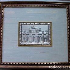 Segunda Mano: CUADRO LA PUERTA DE ALCALA MADRID EN PLATA CON CERTIFICADO TAMAÑO 34X31 CM. VER FOTOS ADICIONALES. Lote 161901662