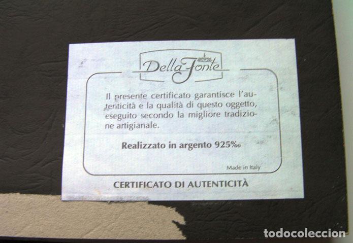 Segunda Mano: Cuadro la puerta de Alcala Madrid en plata con certificado tamaño 34x31 cm. Ver fotos adicionales - Foto 3 - 161901662