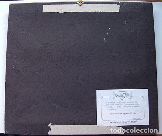 Segunda Mano: Cuadro la puerta de Alcala Madrid en plata con certificado tamaño 34x31 cm. Ver fotos adicionales - Foto 4 - 161901662