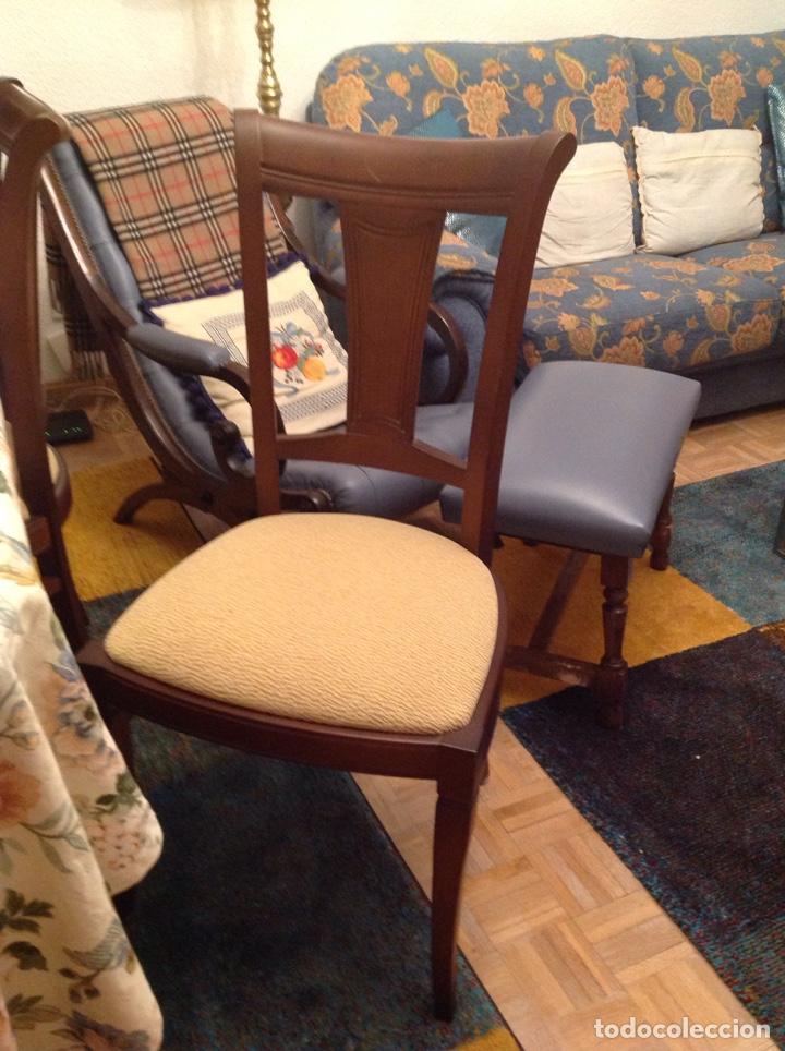 Seis sillas de comedor