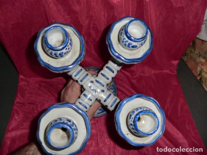 Segunda Mano: CANDELABRO DE CERAMICA O PORCELANA PRECIOSO PINTADO - Foto 2 - 165797534
