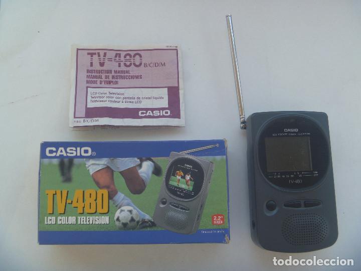 TELEVISOR EN MINIATURA PORTATIL DE CASIO : TV - 480 . EN SU CAJA (Segunda Mano - Artículos de electrónica)