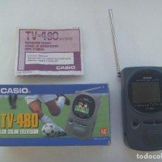 Segunda Mano: TELEVISOR EN MINIATURA PORTATIL DE CASIO : TV - 480 . EN SU CAJA. Lote 166640674