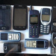 Segunda Mano: LOTE 9 TELEFONOS MOVILES USADOS. Lote 166662566