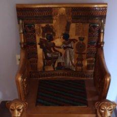 Segunda Mano: SILLÓN EGIPTO FARAÓN TUTANKAMON. Lote 167171310