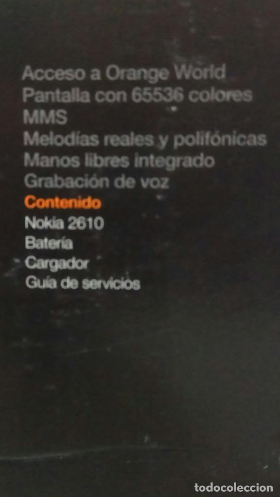 Segunda Mano: Telefono Movil Nokia 2610 orange en caja original completo muy buen estado con cargador celular - Foto 3 - 259952105